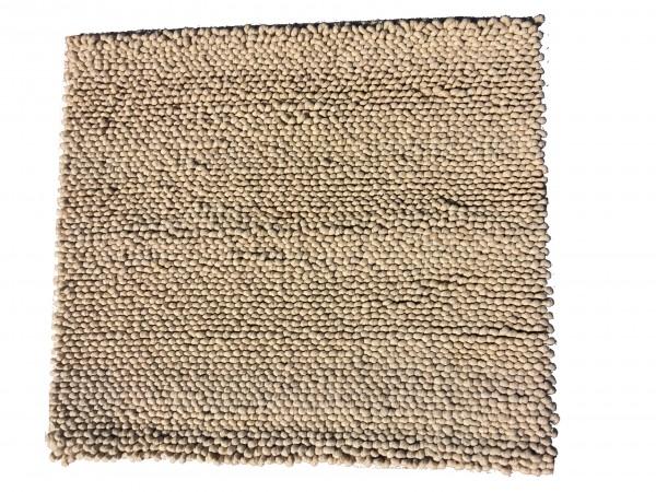 Teppich, Schlinge, sandbeige, 96 x 117