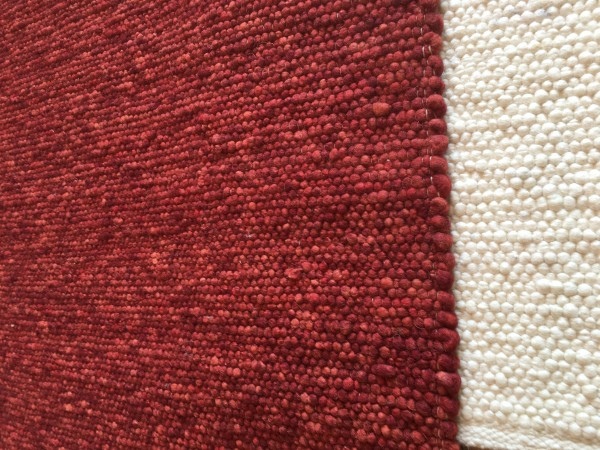 Teppich, rot meliert, 70 x 140