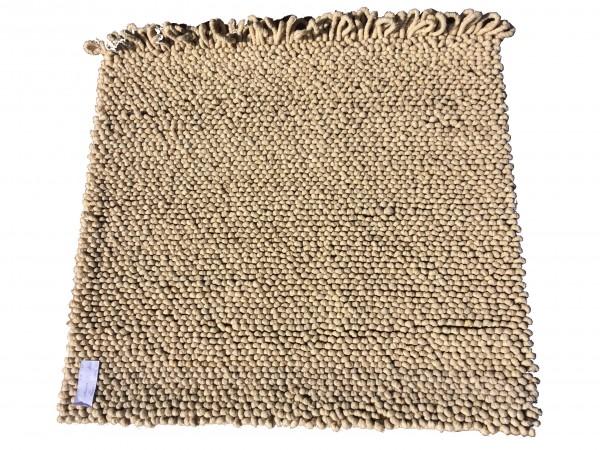 Teppich, Schlinge, sandbeige, 97 x 107